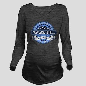 Vail Blue Long Sleeve Maternity T-Shirt