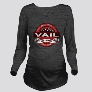 Vail Red Long Sleeve Maternity T-Shirt