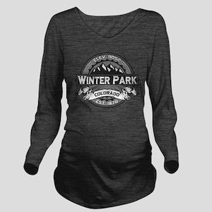 Winter Park Grey Long Sleeve Maternity T-Shirt
