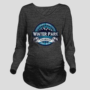 Winter Park Ice Long Sleeve Maternity T-Shirt