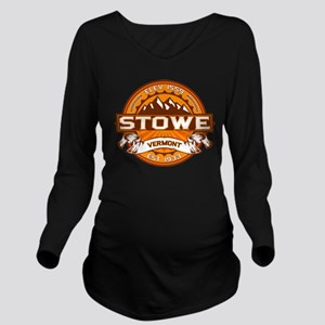 Stowe Tangerine Long Sleeve Maternity T-Shirt