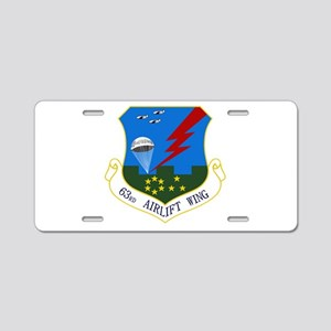 63rd AW Aluminum License Plate