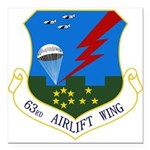 63rd AW Square Car Magnet 3