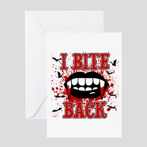 I Bite Back Greeting Card