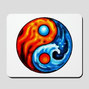FIRE - WATER YIN - YANG Mousepad