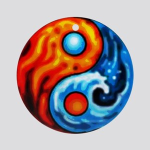 FIRE - WATER YIN - YANG Ornament (Round)