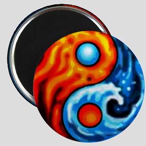FIRE - WATER YIN - YANG Magnet