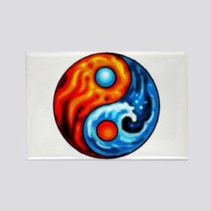 FIRE - WATER YIN - YANG Rectangle Magnet