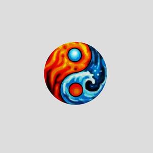 FIRE - WATER YIN - YANG Mini Button