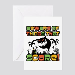 Beware Of The Scare! Greeting Cards