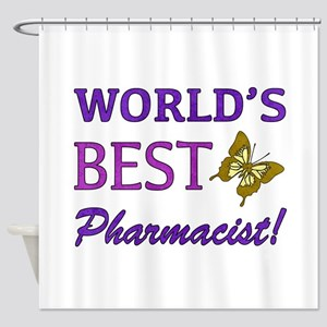 World's Best Pharmacist (Butterfly) Shower Curtain