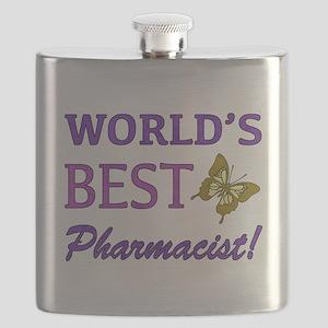 World's Best Pharmacist (Butterfly) Flask