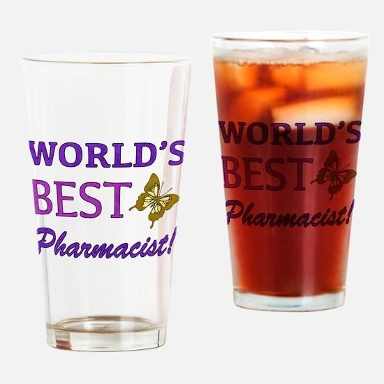 World's Best Pharmacist (Butterfly) Drinking Glass