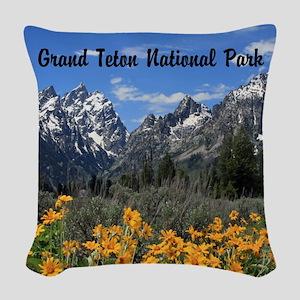 Personalizable Grand Tetons Souvenir Woven Throw P