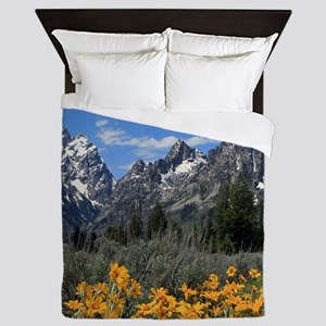 Personalizable Grand Tetons Souvenir Queen Duvet