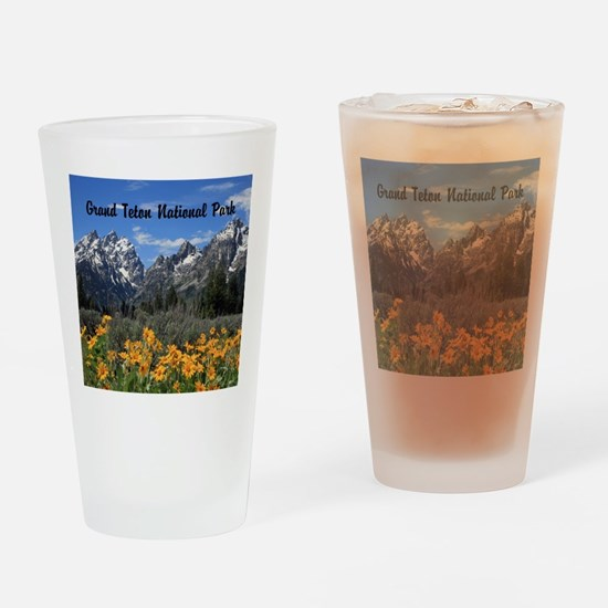 Personalizable Grand Tetons Souvenir Drinking Glas