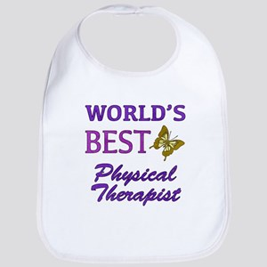 World's Best Physical Therapist (Butterfly) Bib