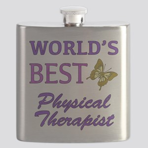 World's Best Physical Therapist (Butterfly) Flask