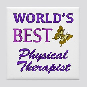 World's Best Physical Therapist (Butterfly) Tile C