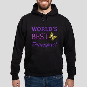 World's Best Principal (Butterfly) Hoodie (dark)