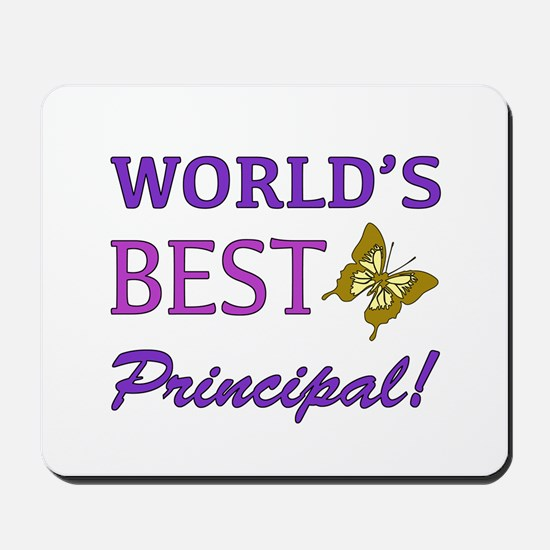 World's Best Principal (Butterfly) Mousepad