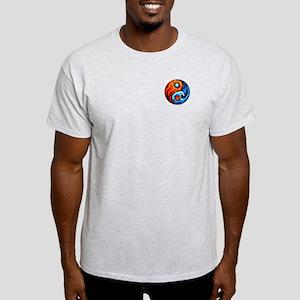FIRE - WATER YIN - YANG Ash Grey T-Shirt