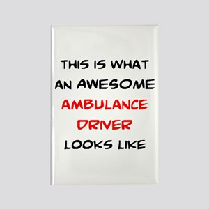 awesome ambulance Rectangle Magnet