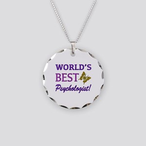 World's Best Psychologist (Butterfly) Necklace Cir