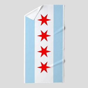 Chicago Flag Beach Towel