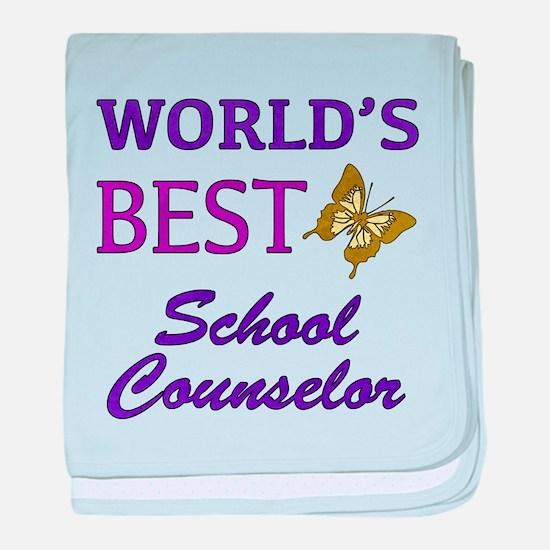 World's Best School Counselor (Butterfly) baby bla