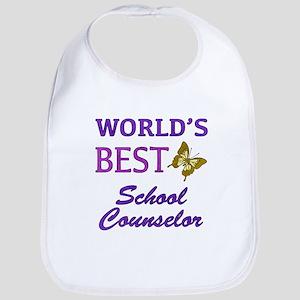 World's Best School Counselor (Butterfly) Bib