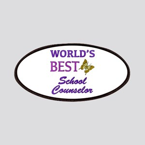 World's Best School Counselor (Butterfly) Patches