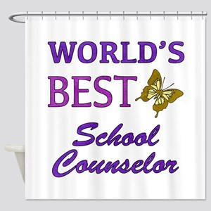 World's Best School Counselor (Butterfly) Shower C