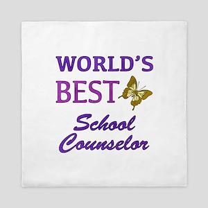 World's Best School Counselor (Butterfly) Queen Du