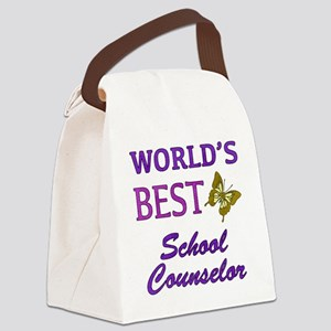 World's Best School Counselor (Butterfly) Canvas L