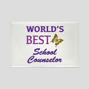 World's Best School Counselor (Butterfly) Rectangl