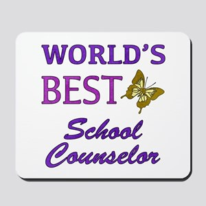 World's Best School Counselor (Butterfly) Mousepad