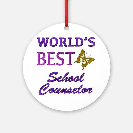 World's Best School Counselor (Butterfly) Ornament