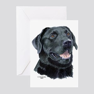 Tejas Black Labrador Greeting Cards (6)