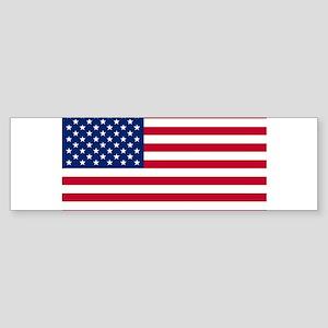 Horizontal_United_States_Flag_2 ft Bumper Sticker