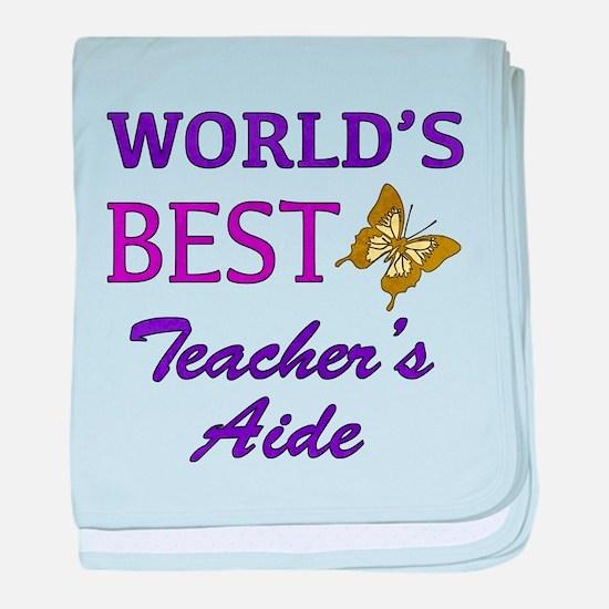 World's Best Teacher's Aide (Butterfly) baby blank