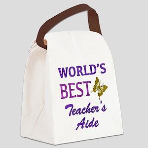 World's Best Teacher's Aide (Butterfly) Canvas Lun