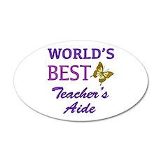 World's Best Teacher's Aide (Butterfly) Wall Decal