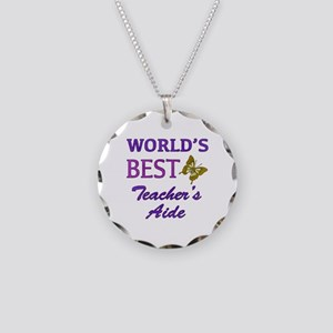 World's Best Teacher's Aide (Butterfly) Necklace C