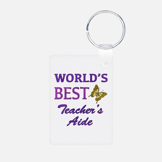 World's Best Teacher's Aide (Butterfly) Keychains