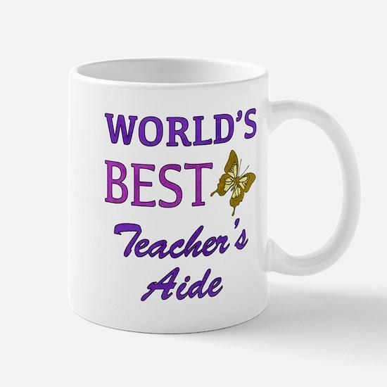World's Best Teacher's Aide (Butterfly) Mug