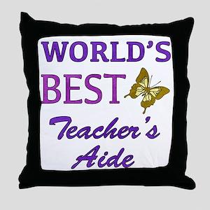 World's Best Teacher's Aide (Butterfly) Throw Pill