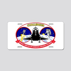 STS-41B Challenger Aluminum License Plate