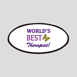 World's Best Therapist (Butterfly) Patches