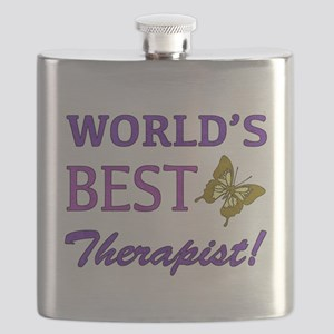 World's Best Therapist (Butterfly) Flask